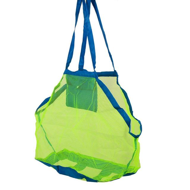 Sand Away Mesh Beach Bag Pouch Box Portable Carrying Toys XL Size Multi Color
