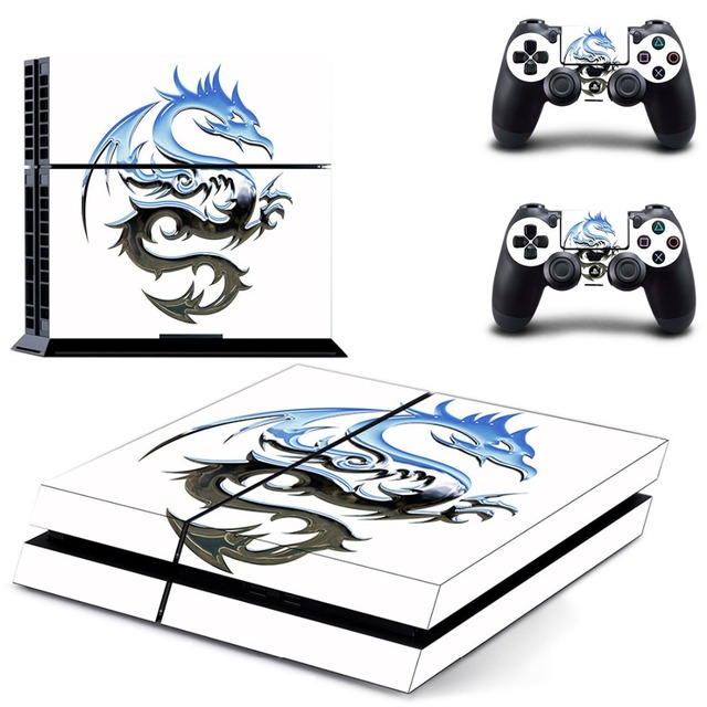 Dragon and Lion Decal PS4 Skin Sticker For Sony PlayStation 4 Console and Controllers PS4 Skins Stickers Vinyl
