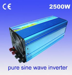 2500W Pure sine wave Inverter dc to ac power inverter 12V to 120V free shipping