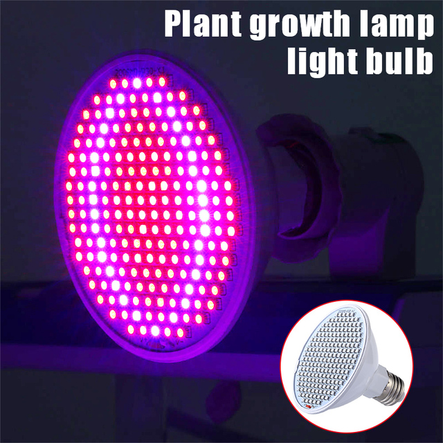 High Brightness Plants Growth Light Growing Bulb E27 200LED 12W Indoor Hydroponic Greenhouse Plant Greenhouse Flower Vegetables