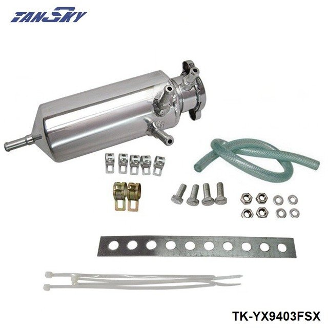 Racing Universal Radiator Alloy Coolant Swirl Pot Breather Air Separator Tank Engine Coolant Catch Can  TK-YX9403FSX