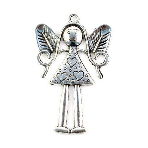 Vintage style Put Babygirl pendant metal Lovely Little Girl Pendants for DIY making necklace pendants accessory P306