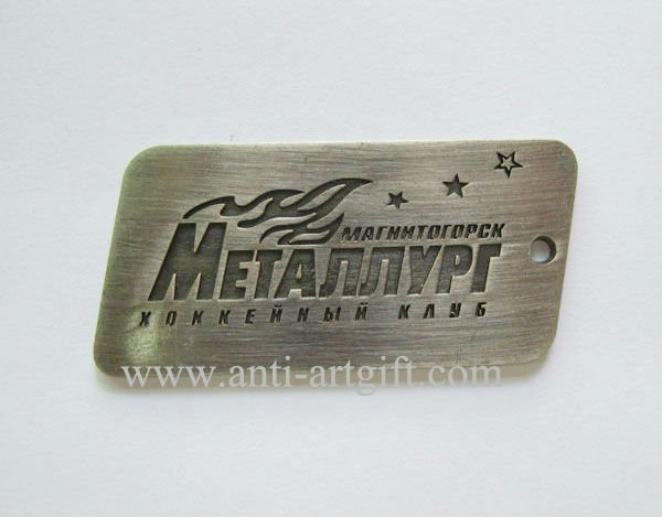 Custom design your logo  keychain  Antique silver finish Square shape high quality No MOQ 2020 new style OEM/ODM