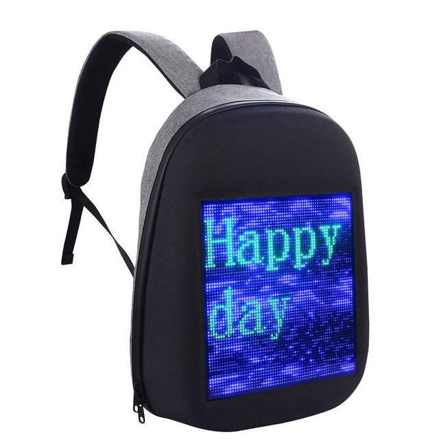 64*64 Color Screen Nylon BackBag Screen Dynamic Backpack Polychrome Advertising DIY Backpack Fashion Express Comfortable School