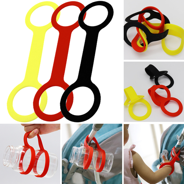 Bottle Accessories Pushchair Universal Baby Stroller Accessories Mother Care Silicone Feeding Baby Cart Bottle Holder