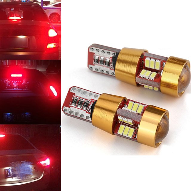Car Dashboard Auto Beads Parking Tail Bright Rear Stop Signal Light 27 LED T10 6W Car Side Wedge Light