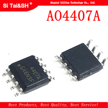 10 шт. AO4407A SOP8 AO4407 SOP 4407 30В P-Channel MOSFET