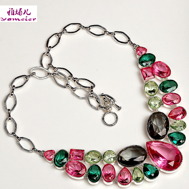 Hot Slae Fashion Jewelry Only $5.5 Factory Direct Color Clavicle Necklace Wedding Jewelry Pendant N2003