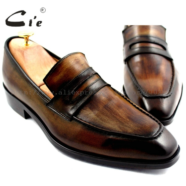 cie Free Shipping Handmade Men's Calfskin Upper Inner Outsole Breathable Deep Patina Brown Boats Shoe Slip-on Shoe No.Loafer 24