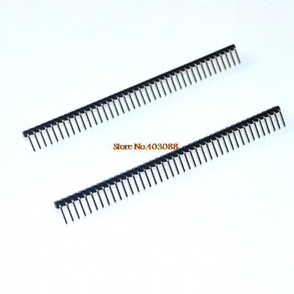 Best price!! 200pcs/lot 2.54mm Single Row Male 1X40 RIGHT ANGLE Pin Header Strip