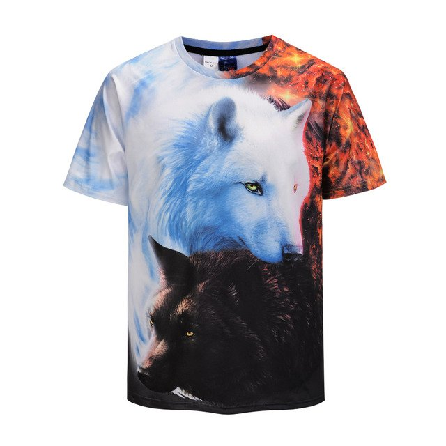Mr.1991INC Wolf 3D Print Animal Cool Funny T-Shirt Men Short Sleeve Summer Tops Tee Shirt T Shirt Male Fashion tshirt Male