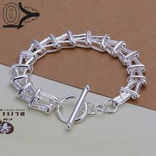 Wholesale Silver Plated Bracelet,Wedding Jewelry Accessories,Fashion Silver Yang Ladder To Bracelets Bangle Gift