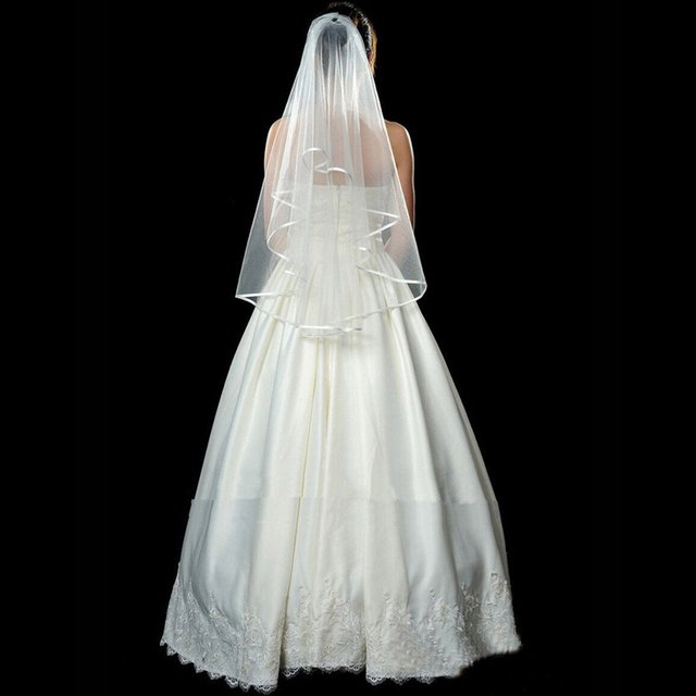 Free Shipping New Unique Bridal Veil  Lace Circuled Wedding Veil Wedding Accessories