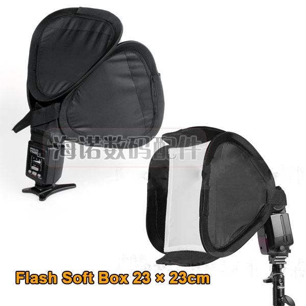 free shipping  2pcs 23 * 23 set-top portable flash softbox diffuser soft bag for canon nikon sony flash light speedlite 580ex