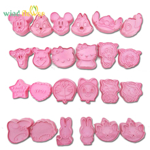 Wind flower 2 Pcs/Set DIY Cartoon Baking Mould Biscuit Mould Cookie Cutter 3D Three-Dimensional Cartoon Biscuits Mold