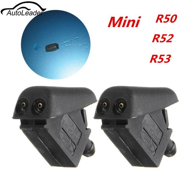 2Pcs New Front Water Washer Jet Spray Windscreen Water Cooper S One For BMW MINI R50 R52 and R53 Black Windshield Wipers