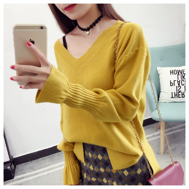 2020 Women Sweater Tops Vintage Ladies Pullover White Pull Femme Winter Casual Sweater