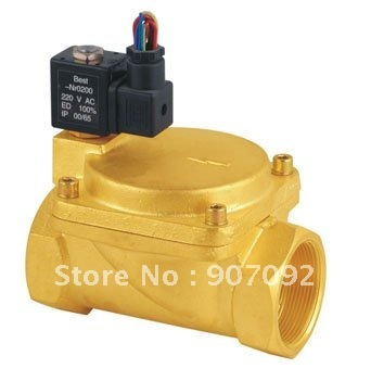 Large Ports 2'' Size Normally Open Solenoid Valve Model 0955805 2/2 Way Diaphragm Type Brass Valve