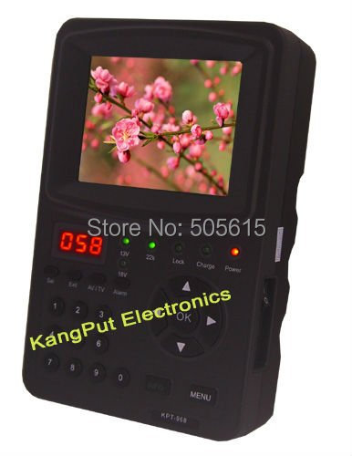 3.5 Inch KPT-968G  Handheld satellite finder With signal quality LED display