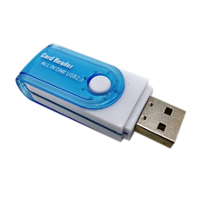 New 4in1 USB 2.0 High Speed Multi-Function All IN 1 MS M2 SDHC TF MMC Micro SD U-Flash Memory Card Reader (1Pcs, Random Color)