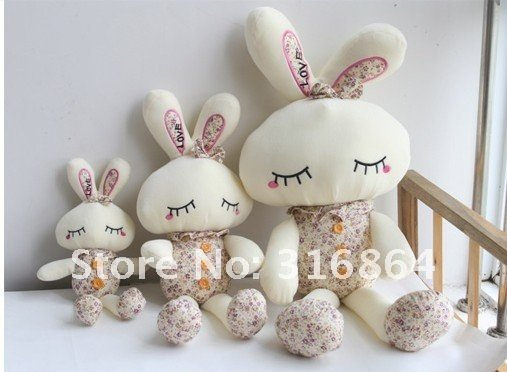 40cm 20pcs/lot Wholesale and retails  plush toys rabbit soft toys stuffed toys Christmas gift factory supply freeshipping