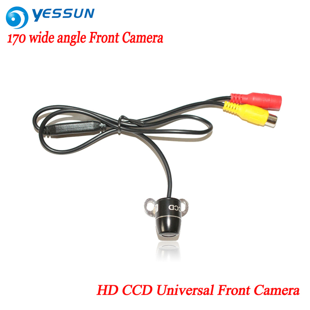 car HD CCD universal front camera / car front view camera parking camera with 170 wide angle