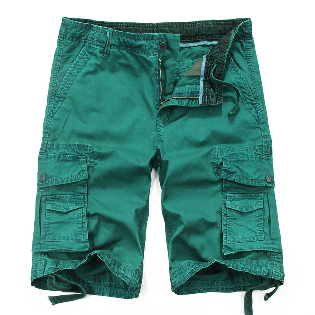 High Quality Mens Casual Shorts 2017 Cargo Short Army Shorts Military Bermuda Tactical Trousers Multi Pocket Big Size 0.7kg