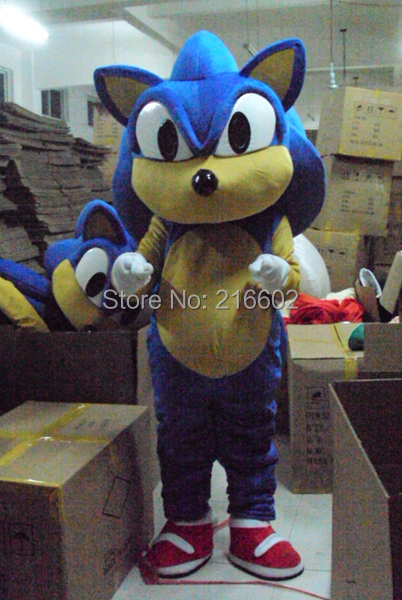 New Sonic the Hedgehog Mascot costume Sonic Mascot costume Cosplay  costume Free shipping