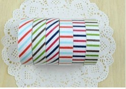 sweet stripe series fabric tape .soft color Adhesive Tape. stationery Sticker label