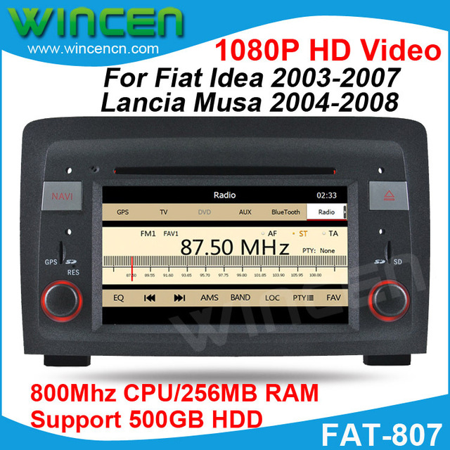 Car DVD GPS Player for Fiat Idea 2003-2007 Lancia Musa 2004-2008 support 1080P HD video with GPS RDS BT Free shipping