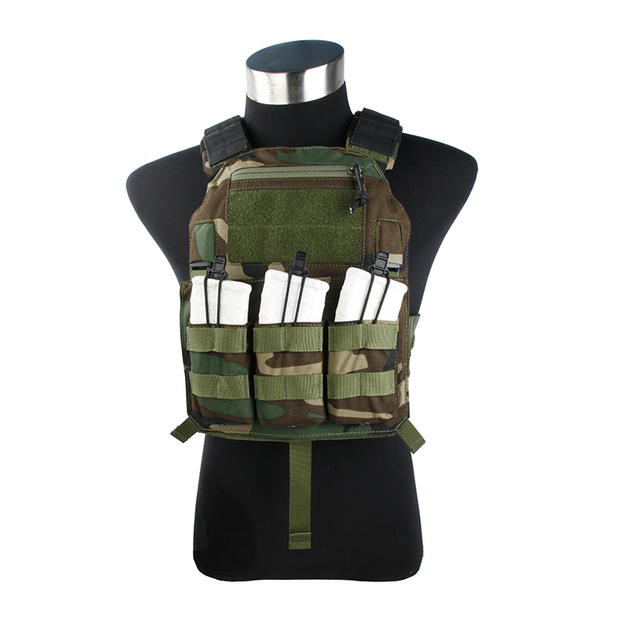 2017 Woodland 500D CORDURA Tactical vest without EVA board