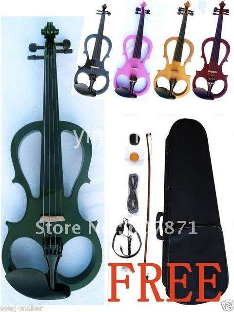 4/4 Full Size New Electric violin Powerful Sound silent High quality #16 green