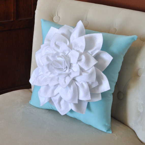 #680 Creative Canvas handmade soild flower cushion white petals  without filling lumbar sofa bed home room Dec wholesale