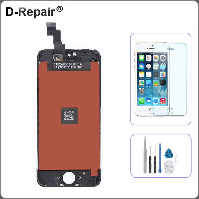 For iPhone 5C LCD Display Touch Screen Digitizer Assembly Replacement Parts glassTools black for iPhone 5C Screen