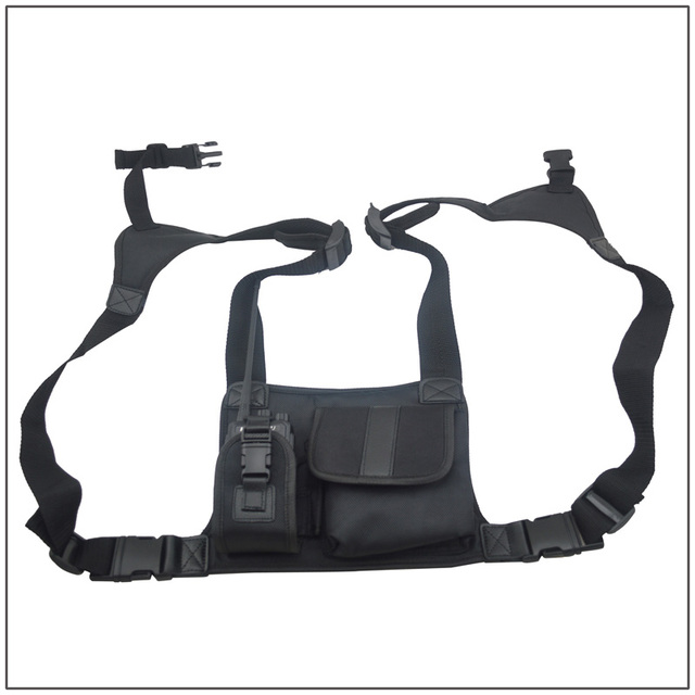 Walkie Talkie Nylon Chest Pack/Carry Case for Baofeng wouxun pofung Hytera Motorola Kenwood ICOM Vertex Standard radios