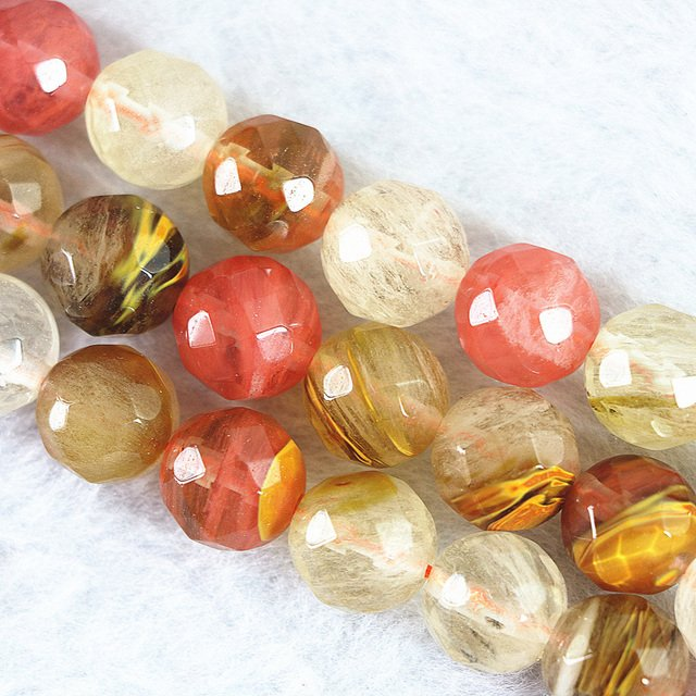 Newly synthetic tourmaline watermelon multicolor 4mm 6mm 8mm 10mm 12mm 14mm faceted round loose beads 15 inch GE4029