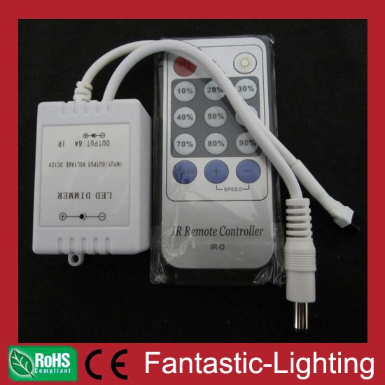 LED IR wireless remote dimmer constant voltage controller 12-24VDC