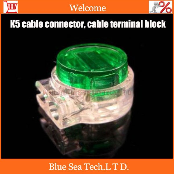 Good quality,50pcs K5 Wire Connector,K5 cable connector,network cable terminal block for Telephone telecom Cable Free Shipping