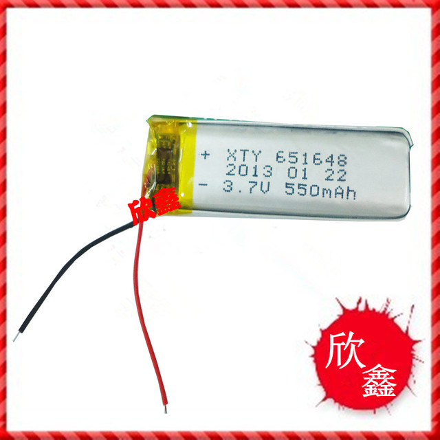 3.7V polymer lithium battery 651648 A product 550mah camera pen recording Bluetooth battery Rechargeable Li-ion Cell