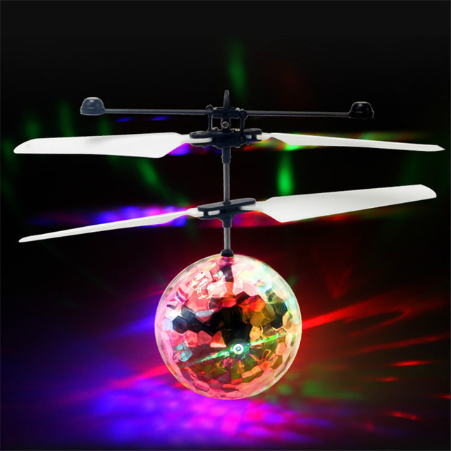Kids Led Flashing Fly Ball Remote Control Toy  Mini Helicopter Aircraft Toys For Children Infrared Induction Luminous Toys