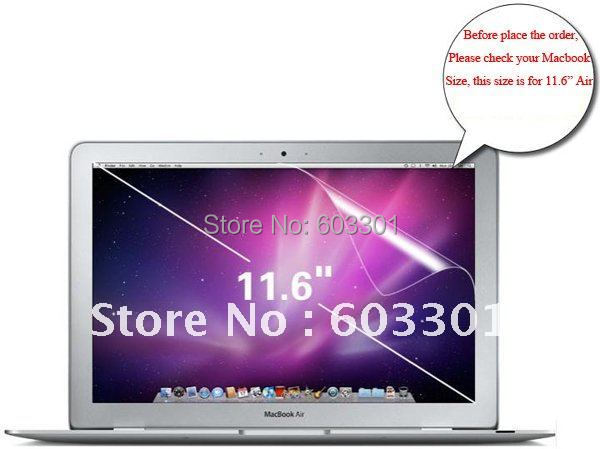 "10pcs Clear Screen protector for macbook air 11.6"" Cover macbookair 11.6 Guard screen film Shell"