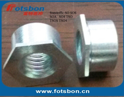 SO-M4-10 , Thru-hole Threaded Standoffs,Carbon steel,zinc,PEM standard,made in china,in stock.