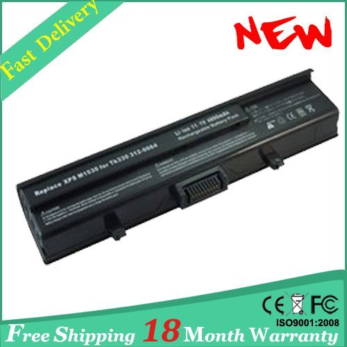 Battery FOR XPS M1330 for Inspiron 1318 TT485 WR050 PP25L 312-0566  312-0567  312-0739  451-10473 free shipping