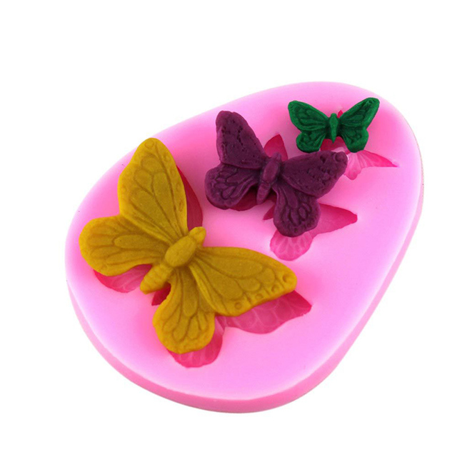Butterfly Silicone Mold For Easter Cake decoration, Baking Silicone tools Forms Fondant Cake Decorating Bakeware party supply