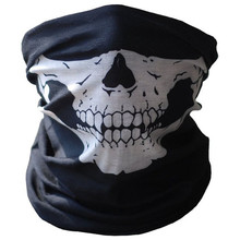 Skull Face Mask Outdoor Riding Mask Bicycle Ski Skull Half Face Mask Ghost Scarf Multi Use Neck Warmer COD Oct#2