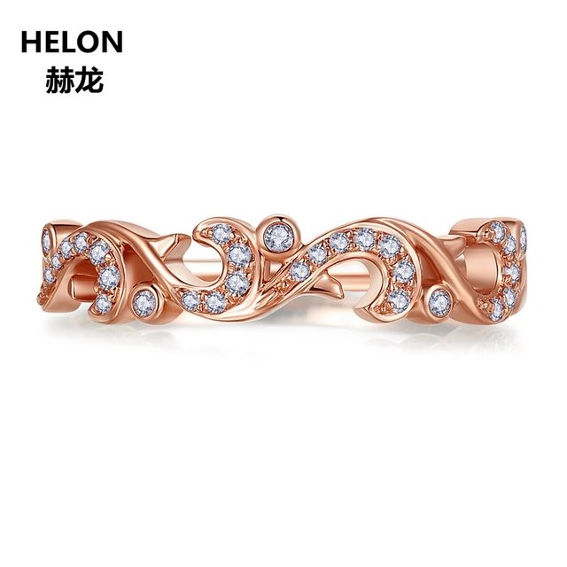 0.12ct SI/H Natural Diamonds Engagement Wedding Ring Women Solid 14k Rose Gold Anniversary Band White Gold Yellow Gold Optional