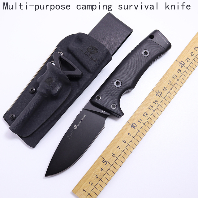 ganzo Multifunctional camping survival knife pcb ruler Karambit knife tactical fixed knives cs go Hunting faca diagnostic-tool