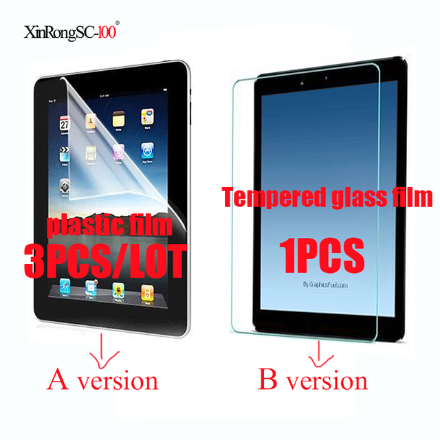 Tempered Glass film Guard LCD Protector or plastic film for 7 inch BQ CANION BQ-7022G BQ 7022G Tablet