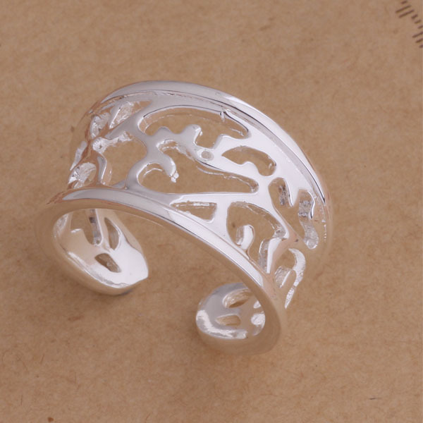 AR038 top quality silver plated ring hollow opening retro fashion jewelry beautiful Christmas gift global hot