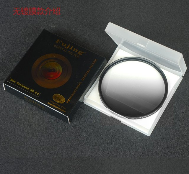 fujing 67mm 72mm 77mm 82mm GND GC-GRAY Filter Optical Glass  Graduated Gray Filter for Camera